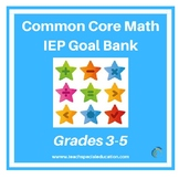 Grade 3-5 IEP Common Core Aligned IEP Goal Bank