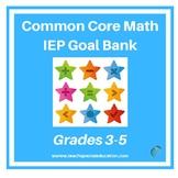 Grade 3-5 IEP Common Core Math IEP Goal Bank