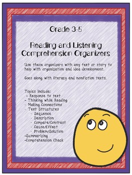 Grade 3-5  Reading and Comprehension Organizers