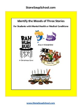 Grade 3 - 8 Moods of 3 Stories - For Students with ADD/ADHD, Christmas Carol