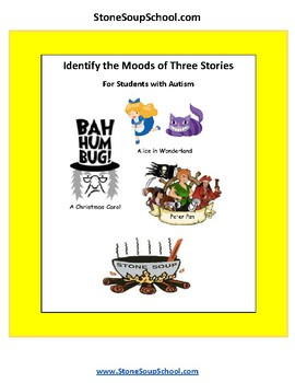 Grade 3 - 8 Moods of 3 Stories -For Students with Autism, Christmas Carol