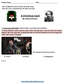 Grade 3 - 8 Moods of 3 Stories - Learning Disabilities , Christmas Carol