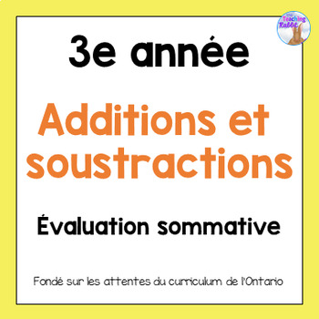 Grade 3 Addition & Subtraction Test (French)