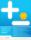 Grade 3 Addition and Subtraction Workbook: Making Math Visual