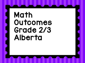Grade 3 Alberta Program of Studies Student Learning Outcomes Simplified