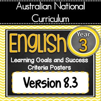Grade 3 All English Learning Goals & Success Criteria! ALL