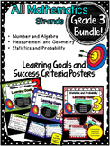 Yr 3 Maths Learning GOALS & Success Criteria posters. BUNDLED!