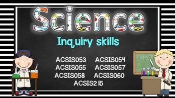 Grade 3 All SCIENCE Learning Goals/success criteria posters Aust Curric.