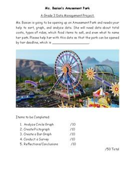 """Grade 3 """"Amusement Park"""" Data Management Unit Task"""