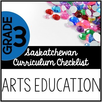 Grade 3 Arts Education - Saskatchewan Curriculum Checklists