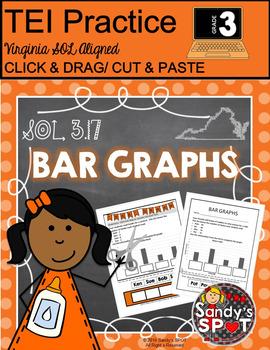 Grade 3 BAR GRAPHS  Cut and Paste VIRGINIA SOL
