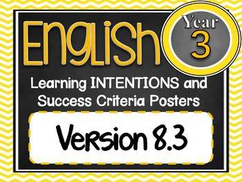 Grade 3 BUNDLE - All SUBJECTS Learning INTENTIONS Australian Curriculum
