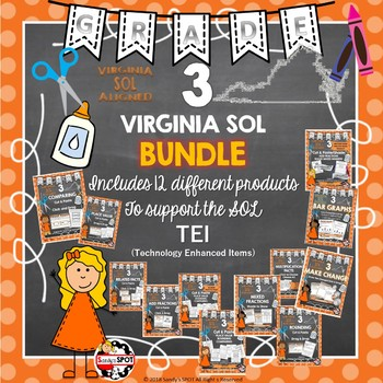 Grade 3 BUNDLE VIRGINIA SOL TEI PRACTICE 14 PRODUCTS