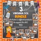 Grade 3 BUNDLE VIRGINIA SOL TEI PRACTICE 12 PRODUCTS
