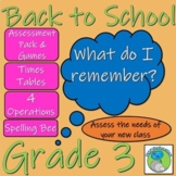 Grade 3 Back to School Bundle - Assessment, Target Setting and Teaching