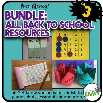 Grade 3: Back to School Math Bundle