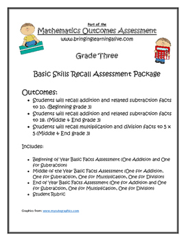 Grade 3 - Basic Facts Progression Assessment