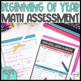 Grade 3: Beginning of Year Math Pre Assessment