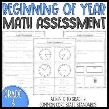 2nd Grade Math Pre Assessment & Worksheets | Teachers Pay