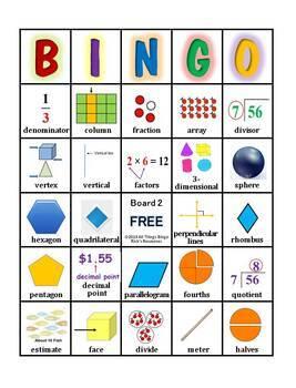 Bingo Games Grade 3