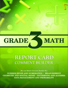 Grade 3 Bundle: Math and Language Comment Builder
