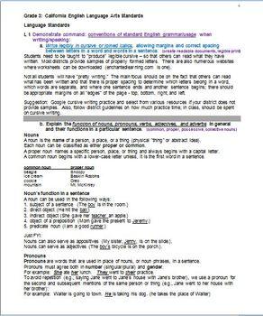 Grade 3 CA Language Standards, Grade-Level Book of Facts:  Teacher's Guide
