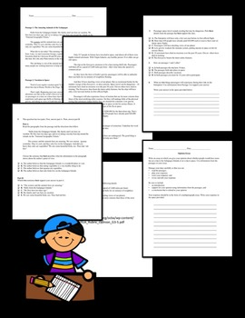 Grade 3 CCSS Informational Text Test Practice with Opinion Writing