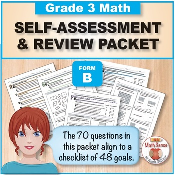 Grade 3 CCSS Math Self-Assessment and Review Packet ~ Form B