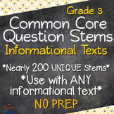 Reading: Informational Text RI Grade 3 Question Stems USE WITH ANY BOOK