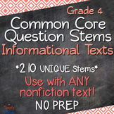 Reading: Informational Texts Annotated Standards and Question Stems - Grade 4