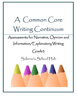 Grade 3 CCSS Writing Continuum