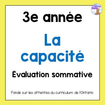 Grade 3 Capacity Quiz (French)