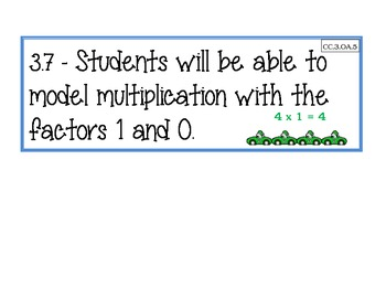 Grade 3 Chapter 3 Go Math Daily Lesson Objectives