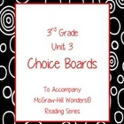 Grade 3 Choice Board for Reading Wonders Unit 3