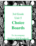 Grade 3 Choice Board for Reading Wonders Unit 5