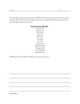 Grade 3 Common Core Aligned Open Ended Math Prompts