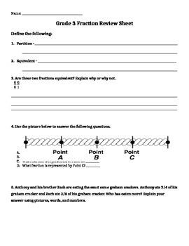 Grade 3 Common Core Fraction Practice