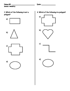 PARCC Grade 3 Common Core Geometry Review