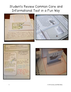 Grade 3 Common Core Informational Text Interactive Reading Notebook