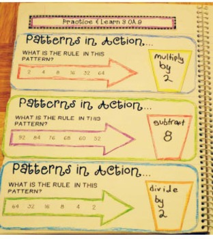 Grade 3 Common Core Interactive Notebook Operations and Algebraic Thinking
