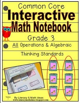 Grade 3 Common Core Interactive Notebook Operations and Al