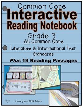 Grade 3 Common Core Interactive Reading Notebook Literatur