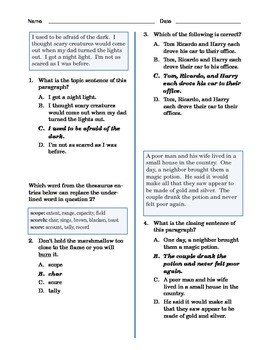 Grade 3 Common Core Language and Writing Practice