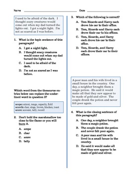Grade 3 Common Core Language and Writing Practice #8
