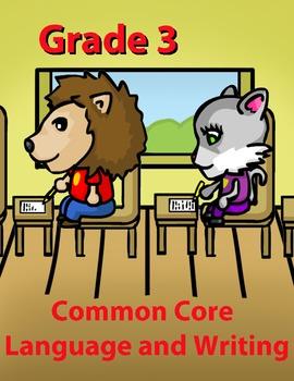 Grade 3 Common Core Language and Writing Practice Value Bundle