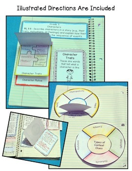 Grade 3 Common Core Literature Interactive Reading Notebook