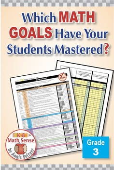 Grade 3 Common Core Math EXCEL Goal Tracker Spreadsheet with Paper Trail