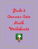 Grade 3 Common Core Math:  Measurement and Data Worksheets 3.MD.D.8 #1-4