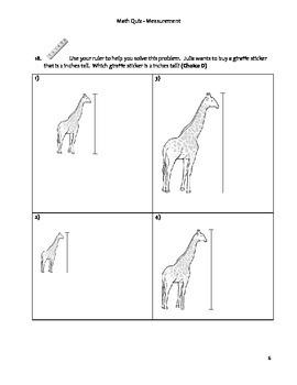 Grade 3 Common Core Math Quiz - Measurement
