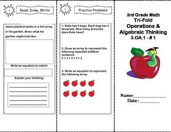 Grade 3 Common Core Math Trifold 3.OA.1